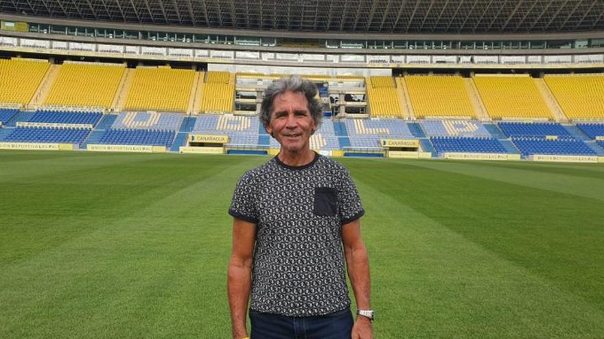 Juani Castillo, en el Estadio Gran Canaria