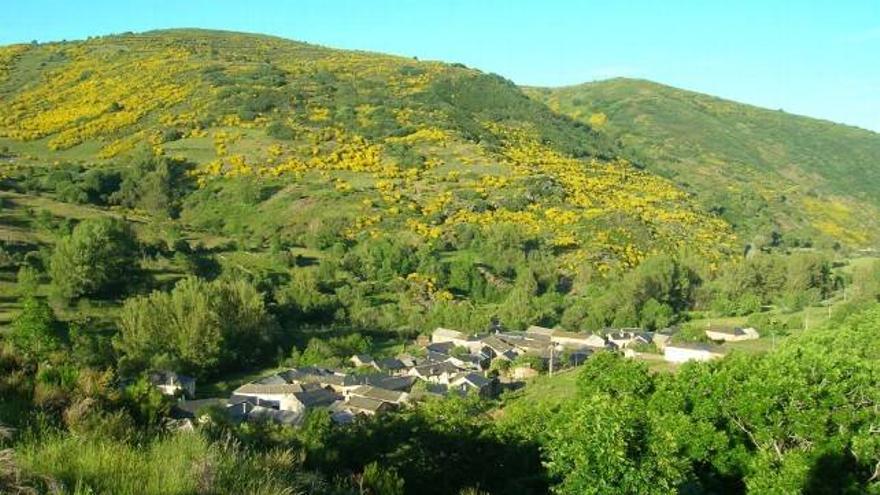 Imagen de la localidad de Vegapujin, del Ayuntamiento de Murias de Paredes.
