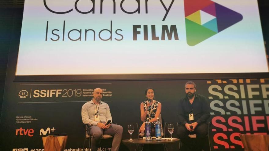 Presentación de 'Canary Island Film', acto promocional del cine canario en el festival de San Sebastián.
