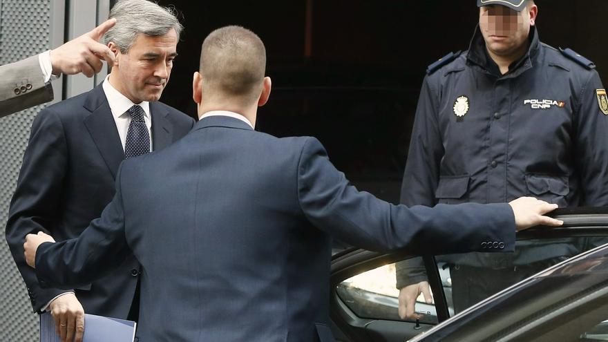"""Acebes a su llegada a la Audiencia Nacional para declarar en el """"caso Bankia"""". EFE"""