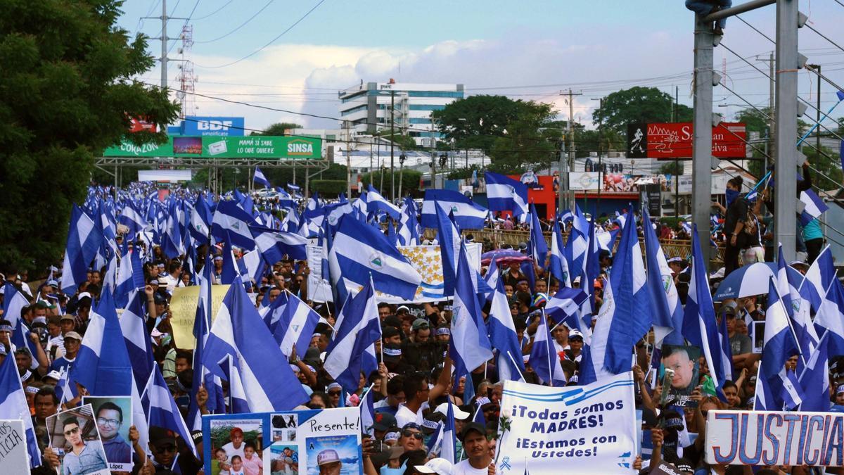 Protestas en Nicaragua en 2020 por las víctimas de la represión de 2018