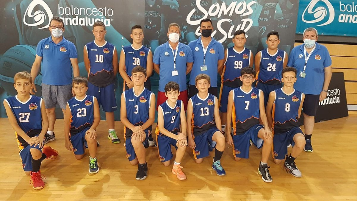 Plantilla del Ciudad de Córdoba minibasket masculino.