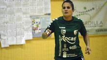 La jugadora del Club Balonmano Remudas Isla de Gran Canaria, Almudena Rodríguez.