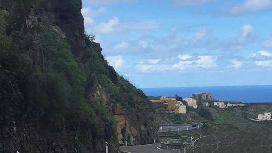 Carretera de El Pagador a Moya.