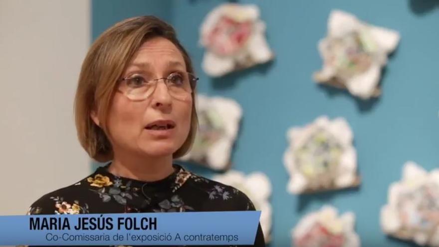 María Jesús Folch, co-comissària de l'exposició 'A contratemps'