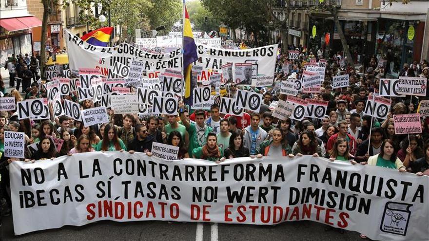 """La """"Marcha a Madrid"""" mostrará mañana su rechazo a la reforma educativa"""