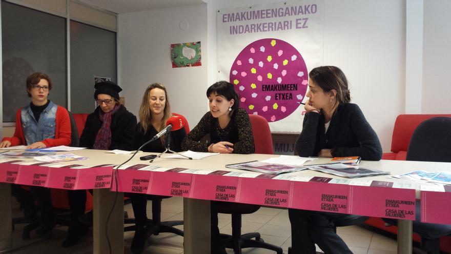 Presentación del balance 2014 de la Casa de las Mujeres de Donostia.