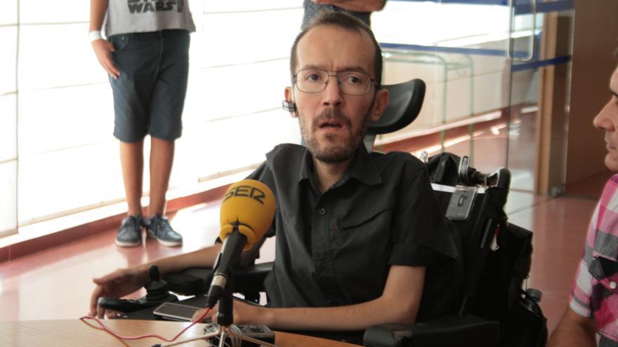 Pablo Echenique en rueda de prensa en Toledo. Foto: Francisca Bravo