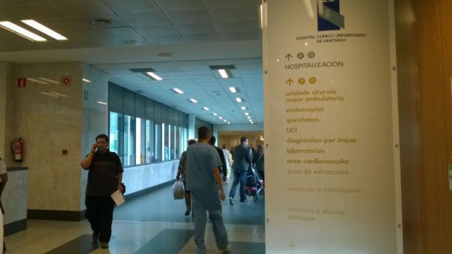 Vestíbulo del Hospital Clínico de Santiago