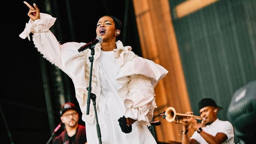 Lauryn Hill durante su actuación en el Mad Cool 2019.