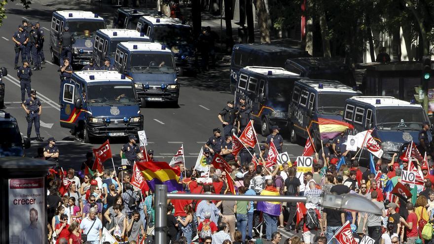 En libertad las cuatro personas detenidas durante la movilización de Madrid