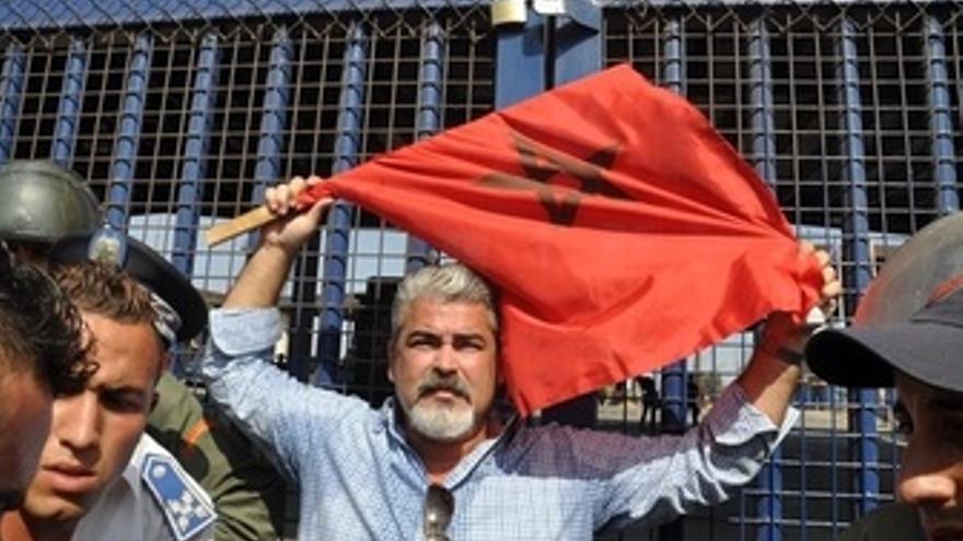Protesta en la frontera con Marruecos