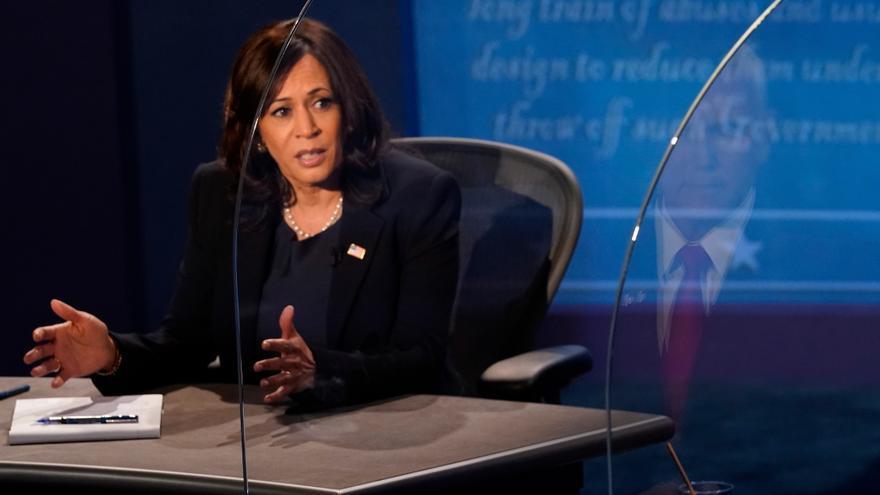 La candidata demócrata a la Vicepresidencia de EE.UU., Kamala Harris. EFE/EPA/Morry Gash