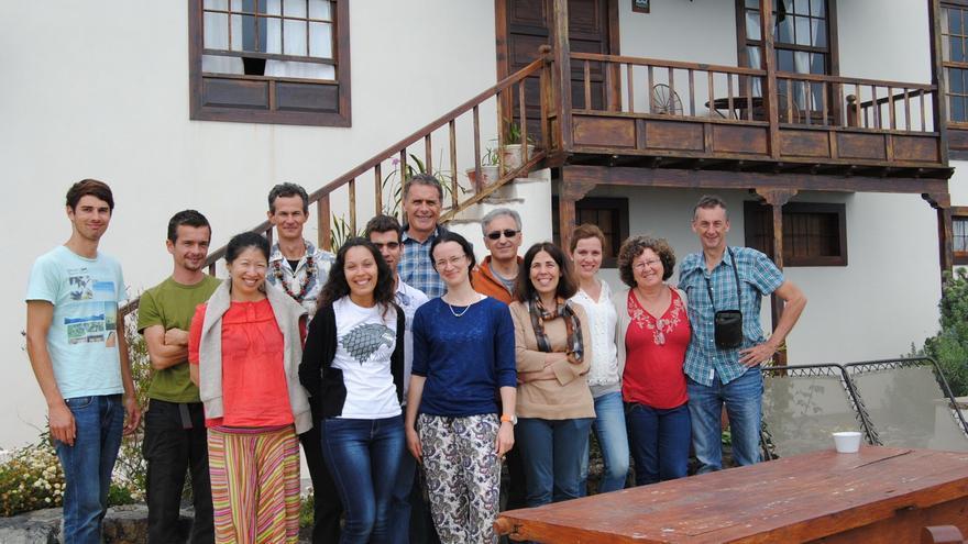 En la imagen, los participantes en la reunión de Moveclim, que se celebra en Fuencaliente.