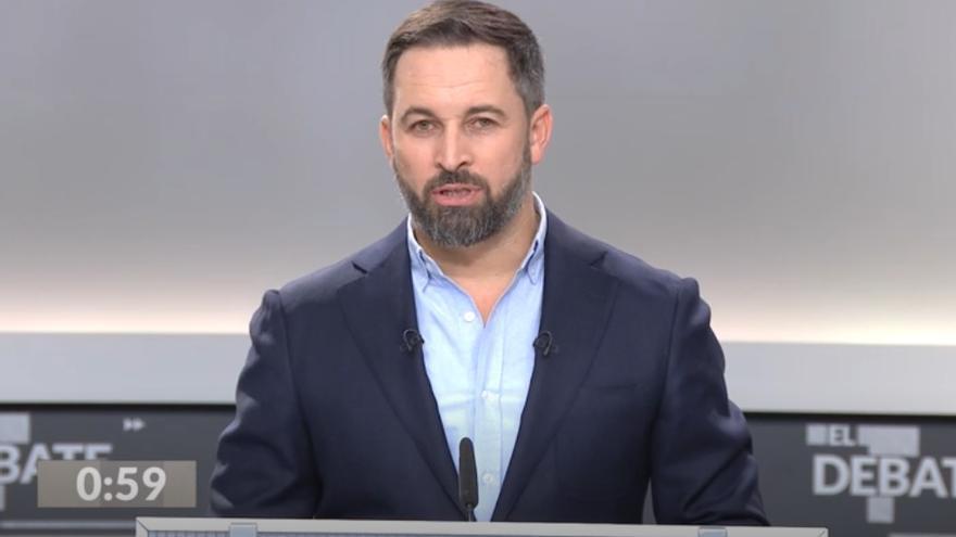 Abascal, durante el debate a cinco