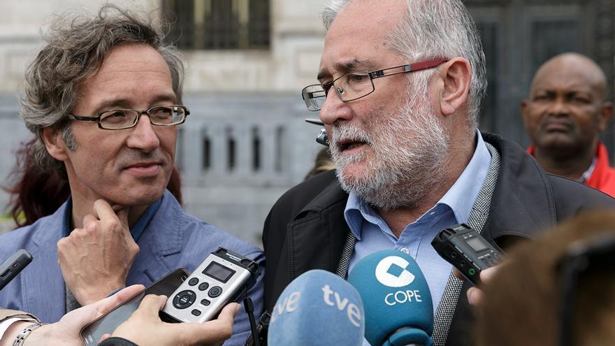 El consejero de Cultura, Ramón Ruiz, junto al Secretario de Estado de Cultura, José María Lassalle.