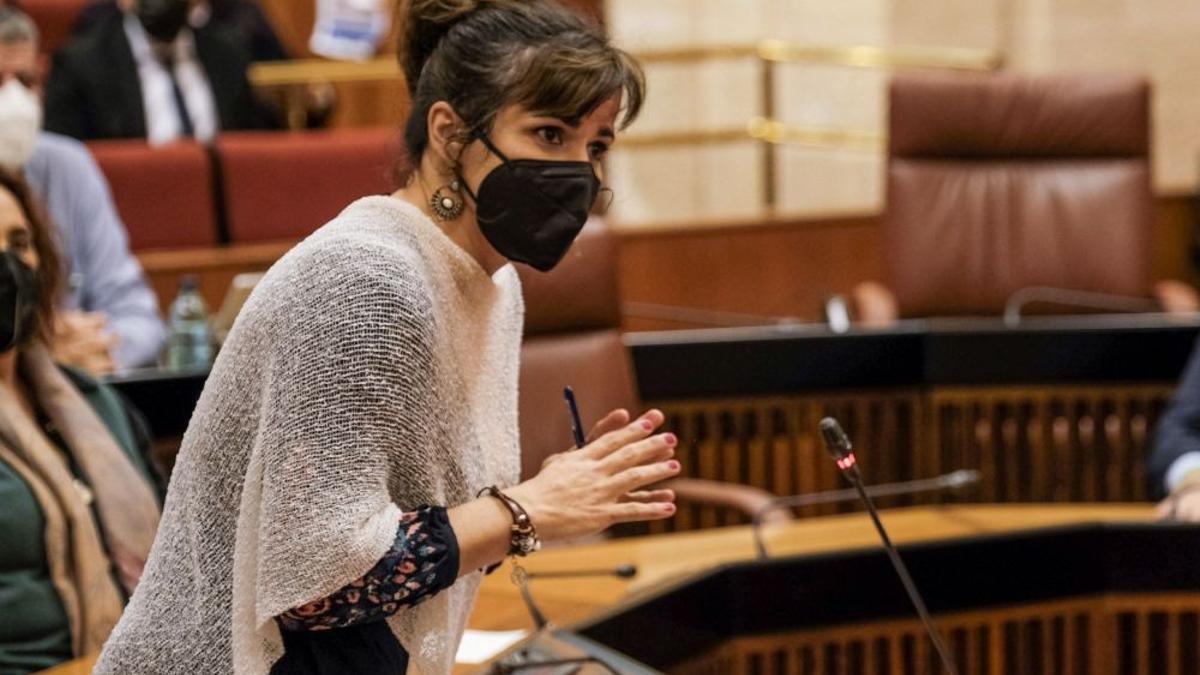 Teresa Rodríguez, diputada no adscrita del Parlamento de Andalucía.