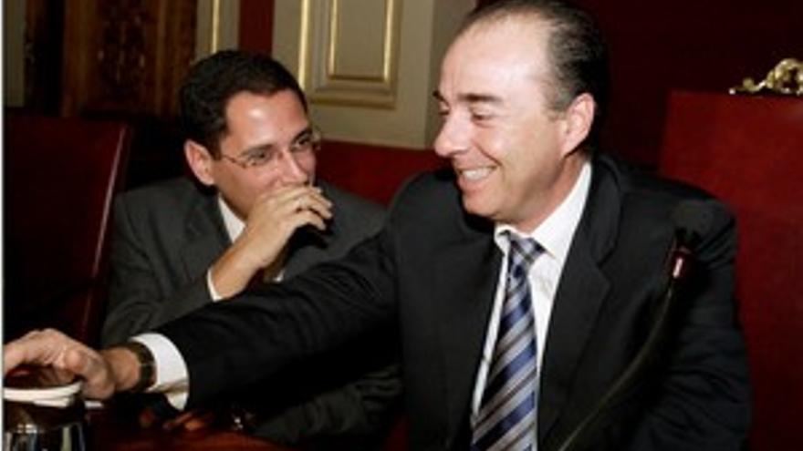 Miguel Zerolo y Ángel Llanos, en una foto de archivo.