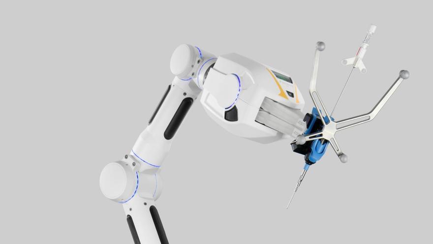 Brazo robótico adquirido por el Centro Princesa Máxima de Utrecht, especializado en oncología pediátrica.