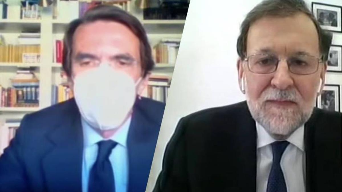 Aznar y Rajoy en sus declaraciones en el juicio de la Caja B.