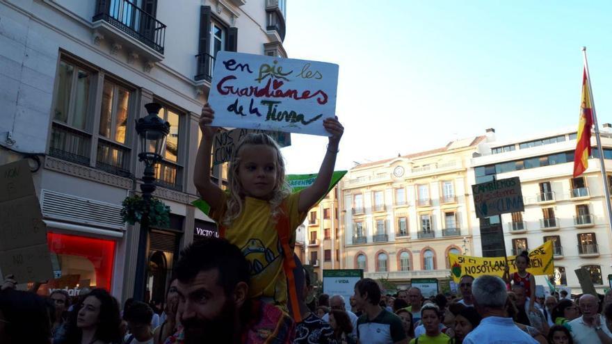 Mario López y Rio, en la manifestación de Málaga.