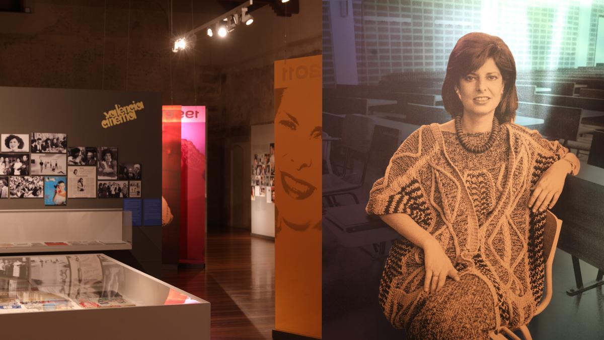 La muestra sobre Carmen Alborch en el Museo del Carme.