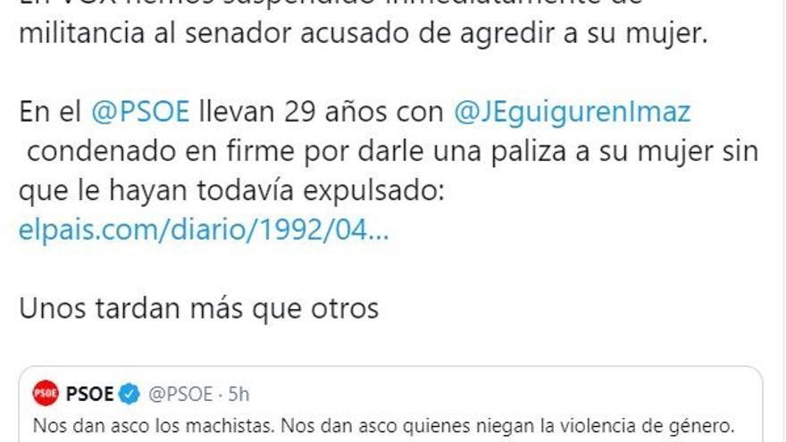 El senador de Vox en Ceuta investigado por violencia de género renuncia a su acta en el Senado