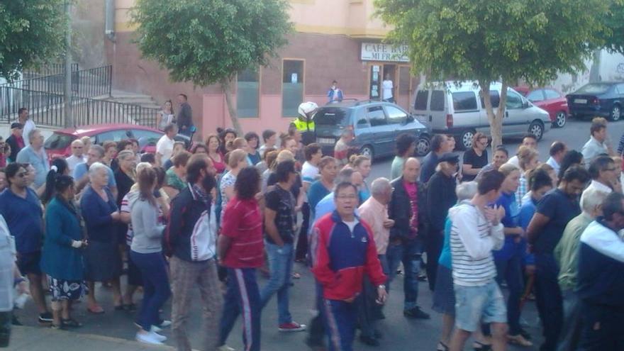 Manifestación de los vecinos del barrio