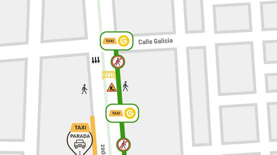 Mapa de las obras de la MetroGuagua a su paso por Mesa y López