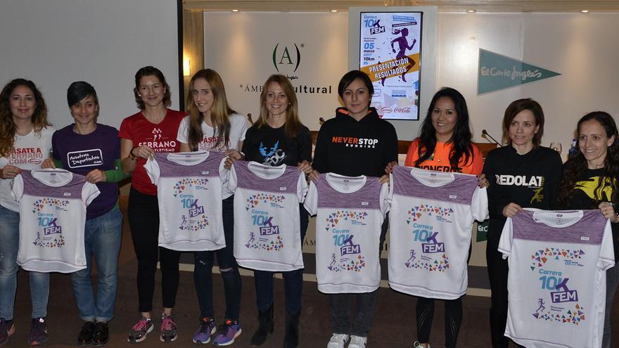 Varias de las participantes en la 10K Fem