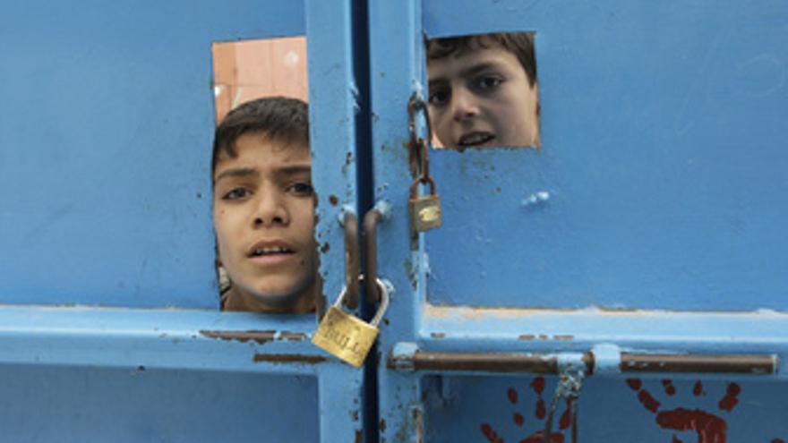 Niños en Palestina