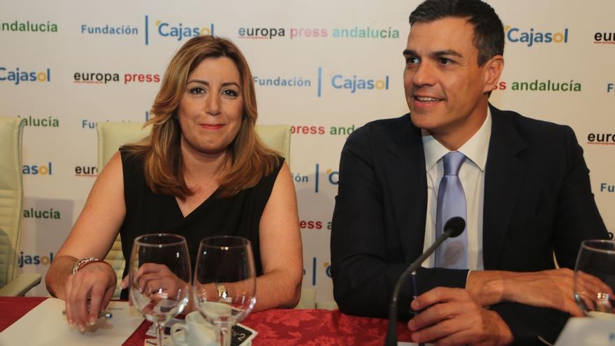 """Susana Díaz traslada a Pedro Sánchez todo su """"apoyo"""" y le pide """"respeto"""" a los territorios y a los expresidentes"""