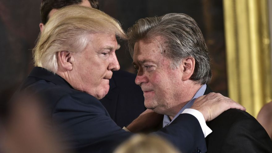 Donald Trump y Steve Bannon