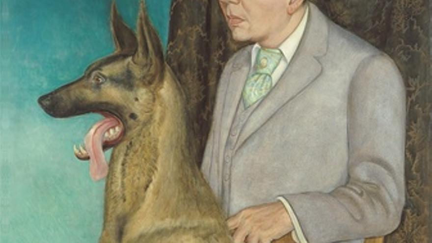 Hugo Erfurth Con Perro De Otto Dix