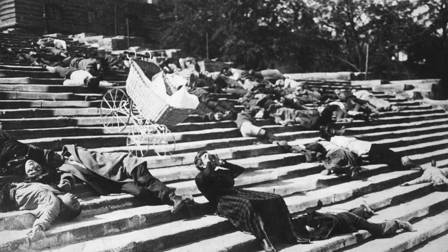 Imagen de la película 'El acorazado Potemkin', presente en el ciclo de cine mudo de la Sala Russafa