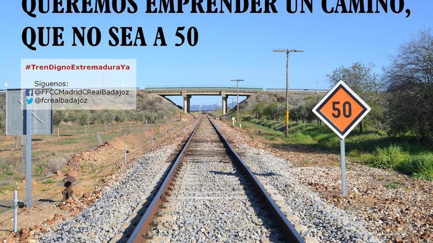 Tren Extremadura limitacion 50 Merida Puertollano