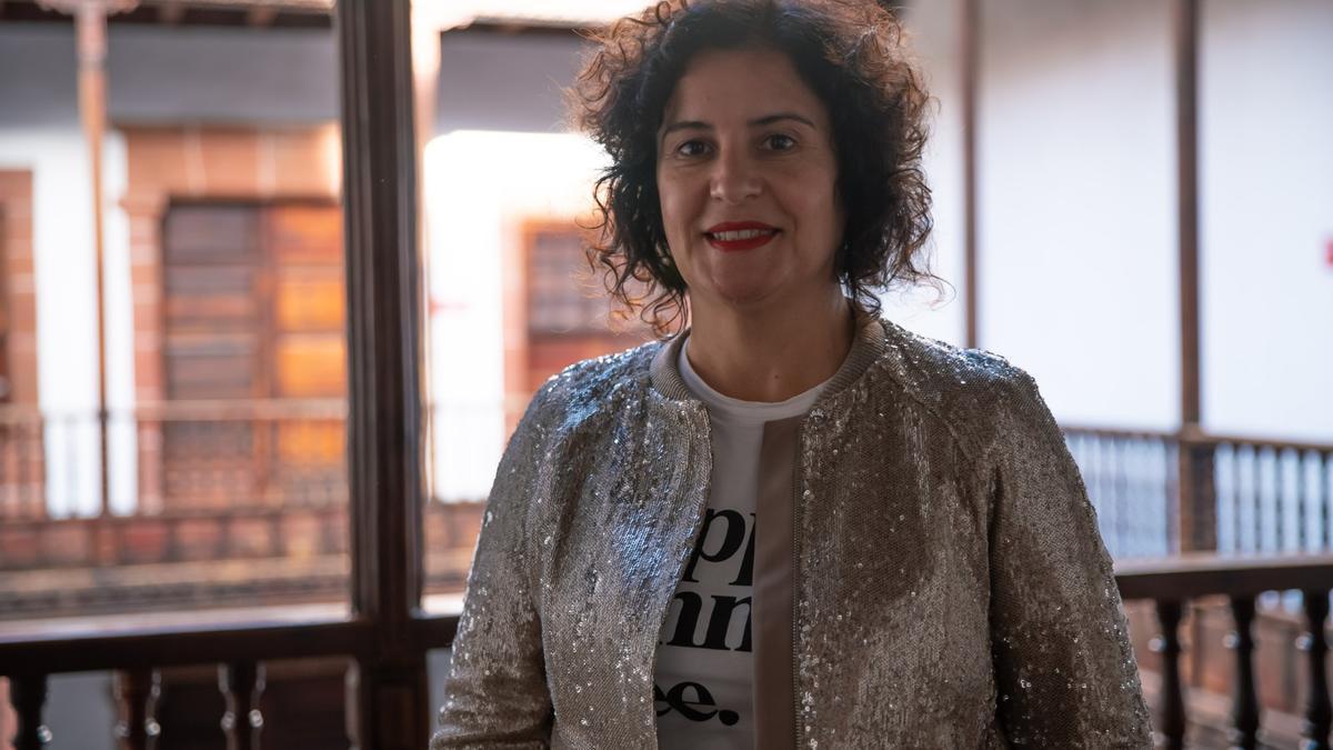 Jovita Monterrey,  consejera de Cultura y Patrimonio Histórico del Cabildo de La Palma, y Jorge Pais,director del Museo Arqueológico Benahoarita  (MAB).