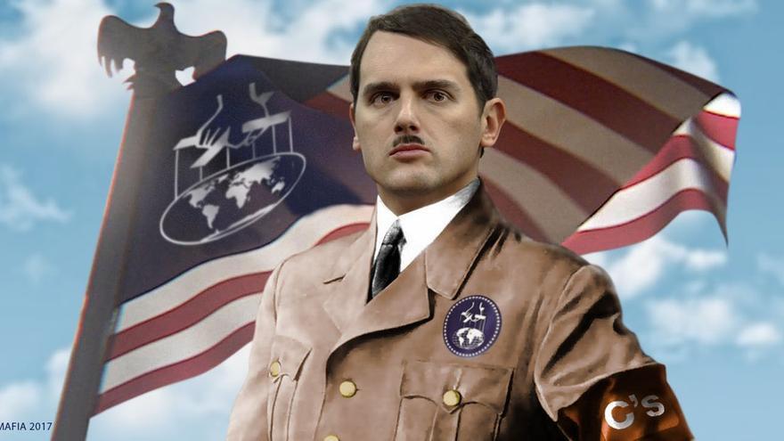 Albert Rivera, caracterizado como un nazi en una foto similar a la que fue borrada de Facebook
