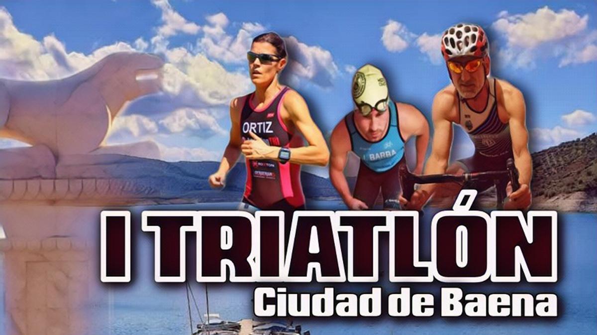 Cartel del primer Triatlón Ciudad de Baena
