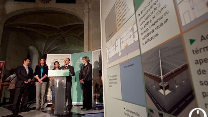 Presentación de la reforma del edificio del Palacio de Congresos, realizado por la Junta. MADERO CUBERO