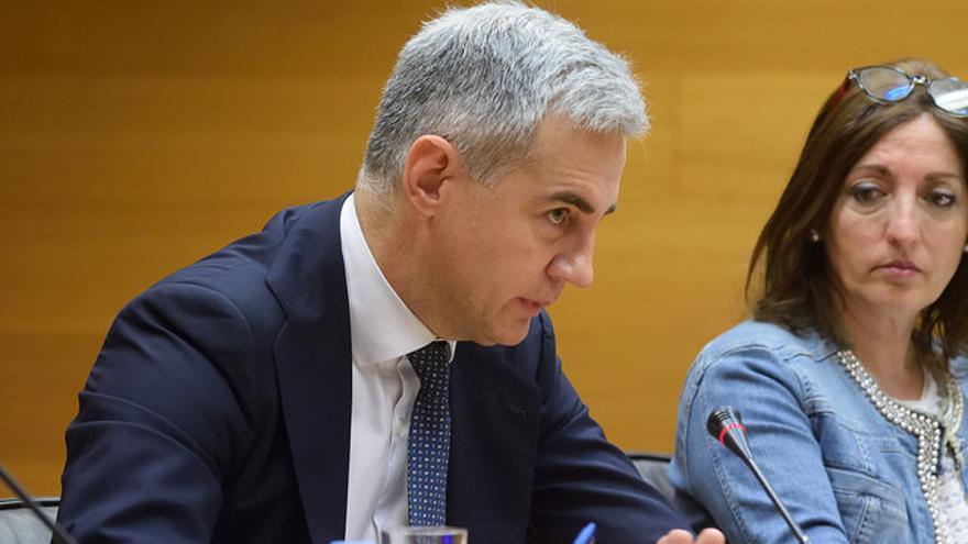 El exsecretario general del PP valenciano, Ricardo Costa, en las Corts Valencianes