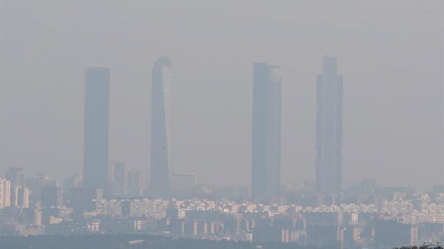 Vista de las cuatro torres de Madrid.