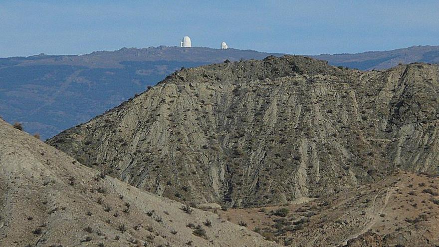 Vista de Tabernas y los Filabres (Almería)