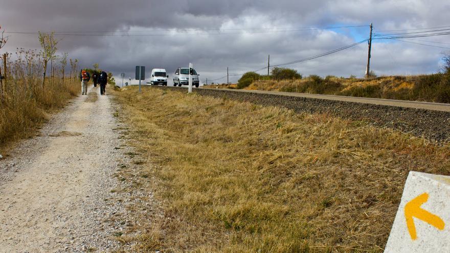El Camino de Santiago a su salida de la ciudad de León.