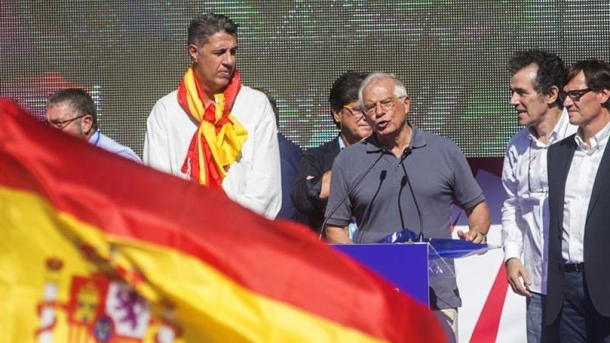 Borrell durante su discurso del 8 de octubre