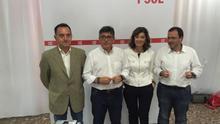 Artemi Rallo, Alfred Boix, Ana Botella y Julián López en la presentación de la campaña del PSPV-PSOE.