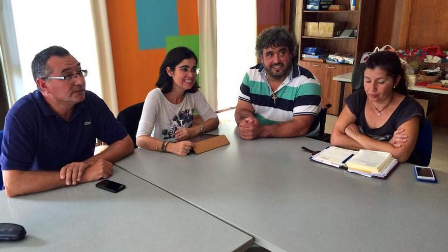Carolina Darias, este lunes, en una reunión en Los Llanos de Aridane.