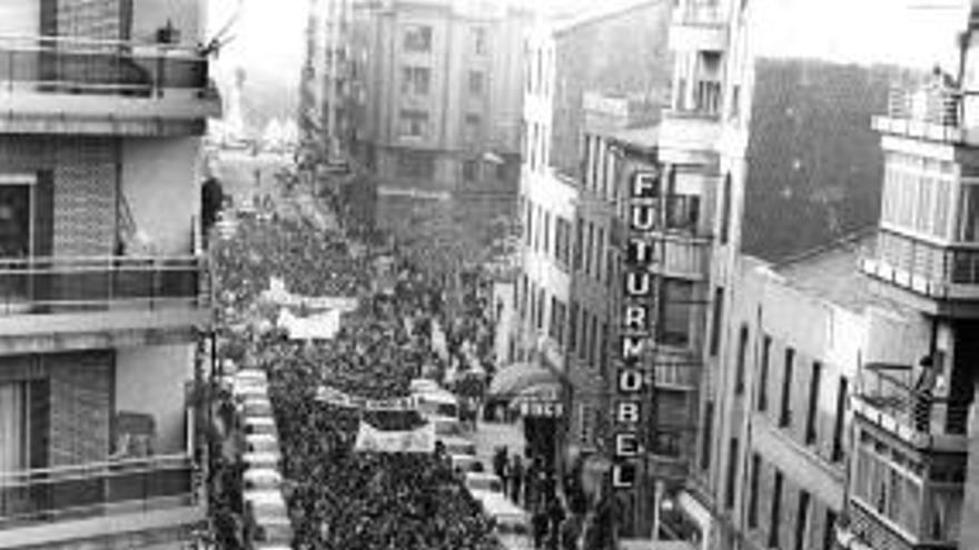 Gran manifestación en la ciudad de León.