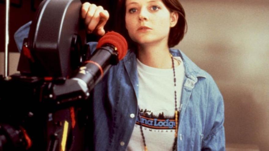 Jodie Foster tras las cámaras de 'Little Man Tate' en 1991