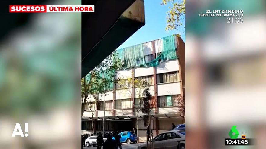 El colegio Menéndez Pidal: de plató de la serie 'Merlí' a albergar a unos presuntos ladrones que han sido desalojados